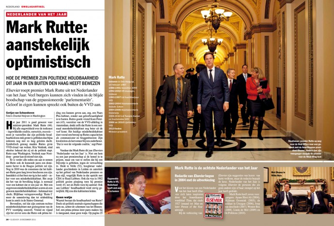 Prime Minister Rutte in Washington DC | Elsevier, December 2011