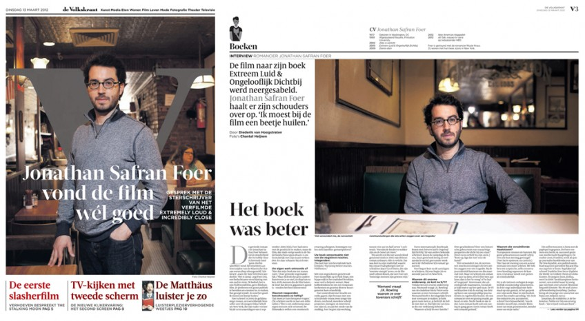 Jonathan Safran Foer | de Volkskrant, March 2012