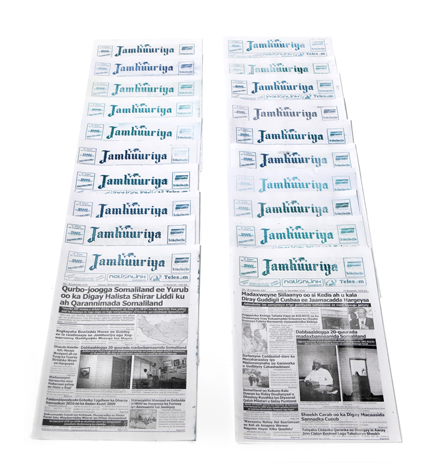 20 Publications in Somalilands newspaper Jamhuuriya | December 10, 2010 until February 21, 2011