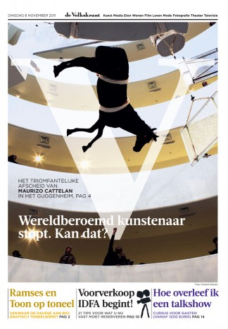 Maurizio Cattelan | Guggenheim New York | de Volkskrant, December 2011