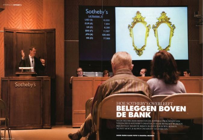 Publication 'Sotheby's NY' | Vrij Nederland, October 2008