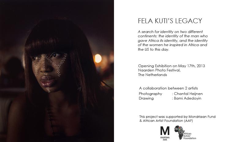 Mix media   Reproduction of hand painted Digital C-print,  'Felabration' - Lagos 2011